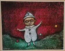 """Charles Sebree """"Clown"""" Painting from Estate of Dolores Sutton"""