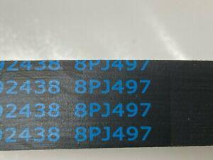 Flexonic 8PJ497  Treadmill Motor Drive Fan Pulley Belt 8 Rib Poly Belt