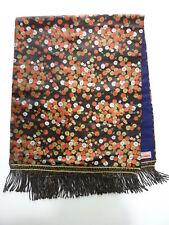 Japanese Fabric Vintage Table Centerpeice Kawashima Kyoto Japan Black Floral