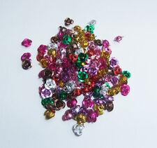 150 x Mixed Colour Aluminium Rose Bead - 6mm