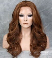 Curly Long Auburn mix HEAT SAFE Lace Front Wig Layered VFLA 27-30-33