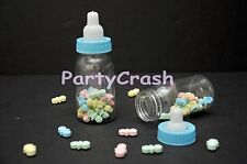 New 24 Baby Shower Fillable Bottles Favors Blue Pink Party Decorations Girl Boy