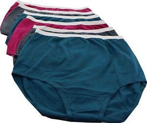 Breezies Set 6 Cotton Brief Panties UltimAir Deep Jewel 7 NEW A22766