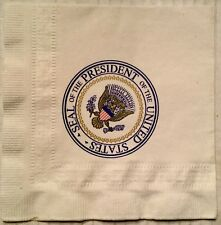 1980's Presidential Seal White House paper Cocktail Napkins Set Of 4