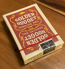 New ListingVintage Red Golden Nugget Playing Cards 1970s Sealed and Cellophane wrapped Nice
