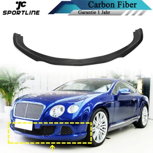Carbon Frontlippe Frontspoiler Spoiler Lippe Passt für Bentley Continental GT