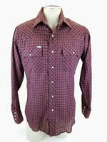 VTG Men's Chute #1 Button Front Long Sleeve Pearl Snap Cowboy Shirt 15 1/2 34/35