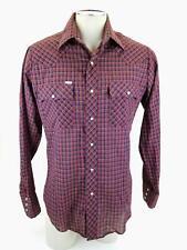 VTG Men's Chute #1 Button Front Long Sleeve Pearl Snap Cowboy Shirt 15 1/2 34/35