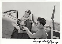 WWII WW2 BoB RAF Ace Battle of Britain WESTLAKE DFC hand signed photo cockpit