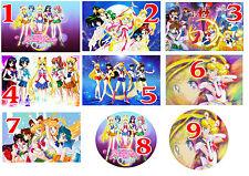 Cialda - Ostia per torte Sailor Moon Anche personalizzabile o tonda o A3