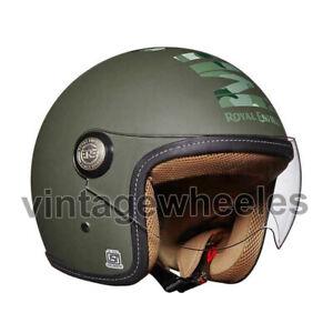 For - Royal Enfield Classic Jet Camo MLG Helmet - Battle Green