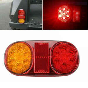 10-30V Car Truck Trailer Boat Waterproof LED Tail Lights Stop Indicator Lamps