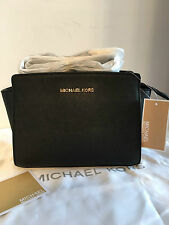 MICHAEL KORS Selma Medium Messenger Crossbody Bag Black Authentic
