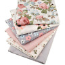 6pcs Cotton Fabric Twill Floral Sewing Quilting Fat Quarters Patchwork Cloth