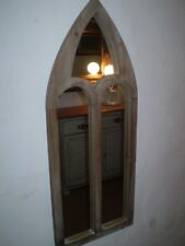 DANISH TIMBER MEDIEVAL STYLE WALL HANGING MIRROR,IDEAL IN A PERIOD HOME