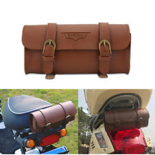 PU Leather Soft Bike Handlebar Bag Bicycle Saddle Brown Tool Tail Bag Cycling TP