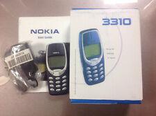 ORIGINAL NOKIA 3310 2 G GSM débloqué (bleu) téléphone portable Best téléphone classique