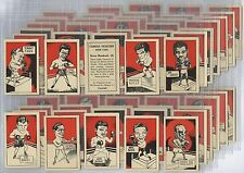 Full Set, D. Cummings, Famous Fighters 1949 EX (w14c37-420)