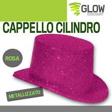 CAPPELLO CILINDRO ROSA accessori carnevale costumi feste costume maschera  33580 2826528901d8