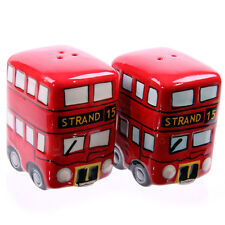 NEW AND BOXED LONDON BUSES SALT AND PEPPER SET, GIFT IDEA