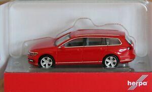 Herpa 028424-003 H0 VW Passat Variant, Rojo # Nuevo Emb. Orig. #