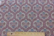 French Antique Napoleon III Woven Jacquard Home Fabric Textile c1850