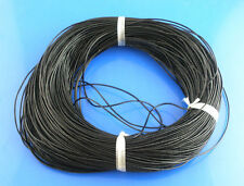9m Thin Black Real Leather Cord Round 1mm 10 Yards Jewelery Necklace Bracelet