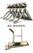 50 PCS 2'' INCH SLATWALL SLAT BOARD HOOKS ACCESSORY SINGLE SHOP RETAIL DISPLAY