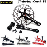 Litepro Integrated 130BCD Crankset 170mm Crank Bike Chainring Bottom Bracket BB