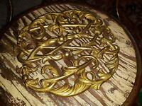 Virginia Metalcrafters Brass Trivet CW 10-14 Colonial Williamsburg Cypher  1950