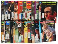 LOT Of 24 VTG 70s SPORTS ILLUSTRATED MAGAZINES Kareem Abdul-Jabbar Bob Cousy Etc