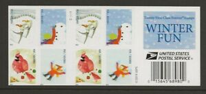 2014 Forever Winter Fun full Booklet of 20 Scott #4940b, Mint NH