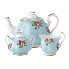 Royal Albert Polka Blue 3Pc Tea Set