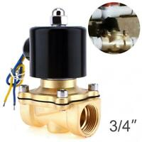 3/4 inch 12V DC Slim Brass Solenoid Valve NPS Gas Water Air Normally Closed US