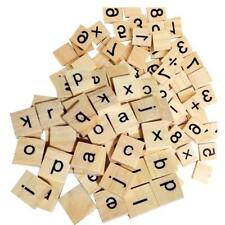 200x Wooden Number Blocks Cube Tiles Black Letters For Kids Toys Crafts Wood