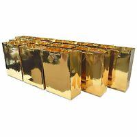 "10x13x5"" 12 Pcs. Large Metallic Red Paper Gift Bags with Metallic Handles,..."