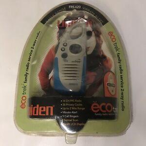 NEW Uniden Eco trek 2 FRS 420 2 Way Radio Belt Key Clip Blue Gray