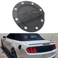 Black Matte Fuel Filler Door Cover Gas Tank Cap For Ford Mustang GT 2015-2018