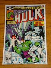 INCREDIBLE HULK #249 VOL1 MARVEL COMICS JULY 1980