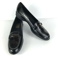 Munro 8.5 N Narrow Shoes Loafers Black Brown Womens Leather Flats Career