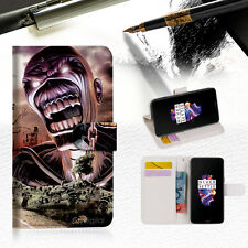 """Iron Maiden Wallet TPU Case Cover For New 5.5"""" Oneplus 5 Five-- A014"""