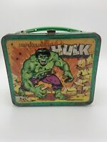 Vintage 1978 Marvel Comics Incredible Hulk Aladdin Metal Lunchbox