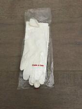 "Nos Vintage White Leather Wrist Length Cocktail Gloves Size 6 - 8"" L"
