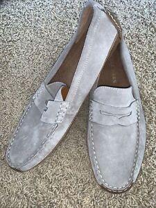 Men Cole Haan Wyatt Penny Driver Size 8.5M Loafer Suede Vintage Khaki C30972