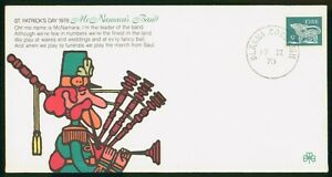 Mayfairstamps Ireland 1978 St Patricks Day Man With Bagpipes Cover wwo_69395
