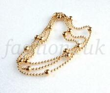 Wedding Party 18K Yellow Gold Plated Ball Bead 45cm Choker Chain Necklace