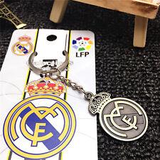 Real Madrid Soccer Football Club Logo Souvenir Copper steel Keychain KeyRing