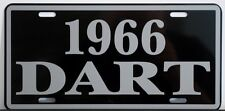 1966 DODGE DART METAL LICENSE PLATE 170 270 GT CONVERTIBLE WAGON SLANT SIX 273
