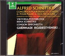 POSTNIKOVA, ROZHDESTVENSKY: SCHNUTTKE 2 Piano Concerto CD Irina Viktoria Gennadi