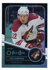 11-12 OPC O-Pee-Chee Rainbow Black Lee Stempniak #349 013/100 Mint